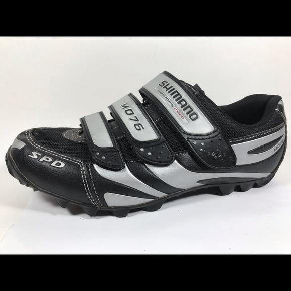 b6de2f6e425 Shimano MD76 Biking Shoes Sz 10.5 EU 45 Black Mens.  M 5bc24fffbaebf637be0a1817